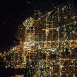 Salt Lake City - Aerial at Night