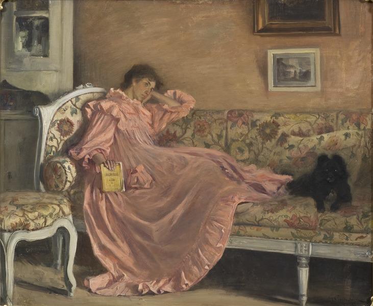 Carola Sitting on the Sofa