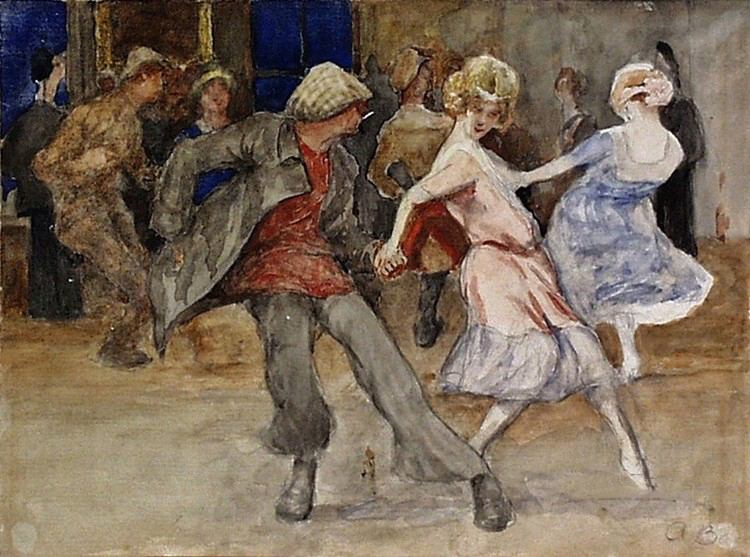 Dancing-1920 - public domain image