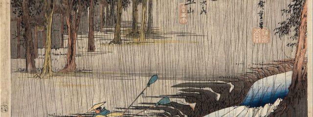 Hiroshige-Tsuchiyama-Spring Rain