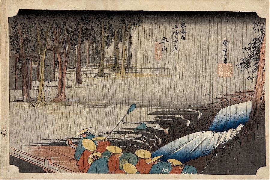 Hiroshige-Tsuchiyama-Spring-Rain